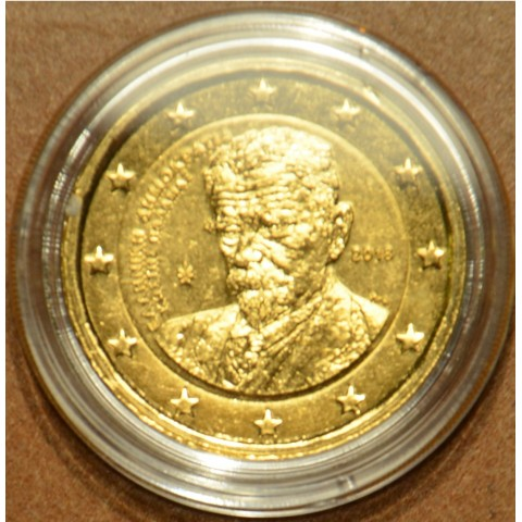 2 Euro Grécko 2018 - Kostis Palamas – 75. výročie úmrtia (pozlátená UNC)