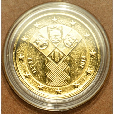 2 Euro Estonia 2018 - Baltic Community Issue - 100 Years of Independence (gilded UNC)
