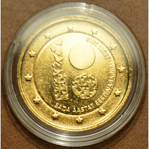 2 Euro Estonia 2018 - 100 years of independence (gilded UNC)