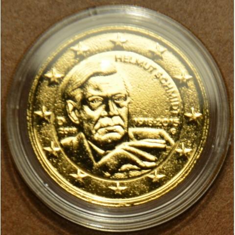 "2 Euro Nemecko ""G"" 2018 - Helmut Schmidt (pozlátená UNC)"