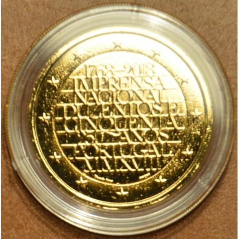 2 Euro Portugalsko 2018 - 250 rokov mincovne INCM (pozlátená UNC)
