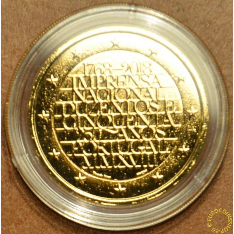 2 Euro Portugal 2018 - 250 years of mint INCM (gilded UNC)