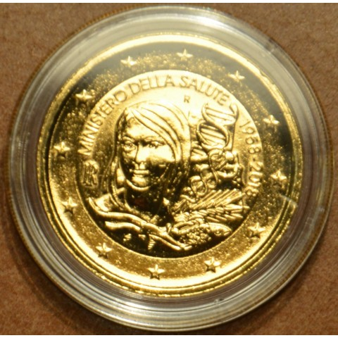2 Euro Italy 2018 - Ministry of health (gilded UNC)