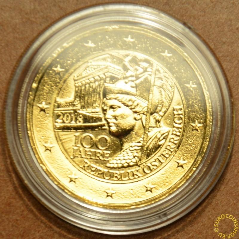 2 Euro Rakúsko 2018 - 100 rokov Rakúskej republiky (pozlátená UNC)
