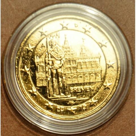 """2 Euro Nemecko """"A"""" 2010 - Bremen: Brémska radnica s Rolandovou sochou (pozlátená UNC)"""