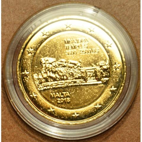 2 Euro Malta 2018 - Mnajdra (gilded UNC)