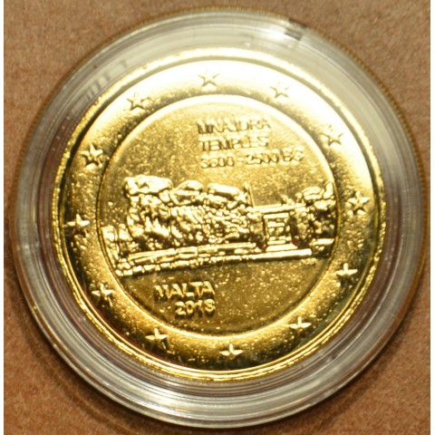 2 Euro Malta 2018 - Mnajdra (pozlátená UNC)