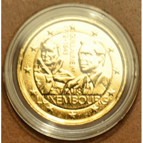 2 Euro Luxembursko 2018 - 175. výročie úmrtia veľkovojvodu Guillaumea I. (pozlátená UNC)