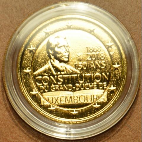 2 Euro Luxembursko 2018 - 150. výročie ústavy (pozlátená UNC)
