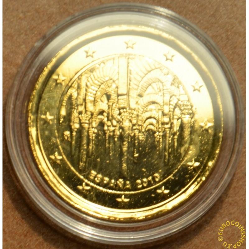 2 Euro Spain 2010 - UNESCO: The historic town center of Cordoba (gilded UNC)