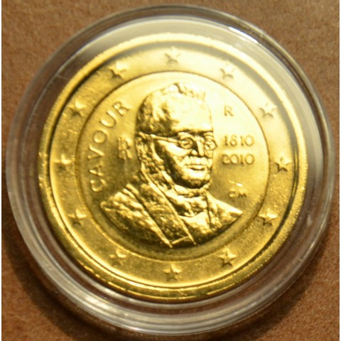 2 Euro Taliansko 2010 - 200. výročie narodenia grófa di Cavoura, Camilla Bensa (pozlátená UNC)