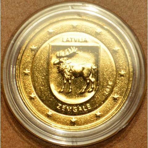 2 Euro Lotyšsko 2018 - Región Zemgale (pozlátená UNC)