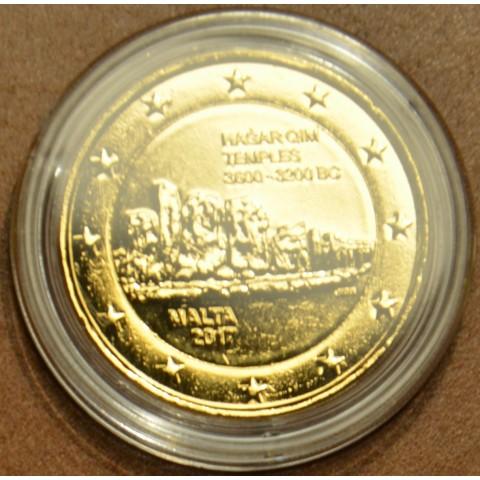 2 Euro Malta 2017 - Hagar Qim (pozlátená UNC)