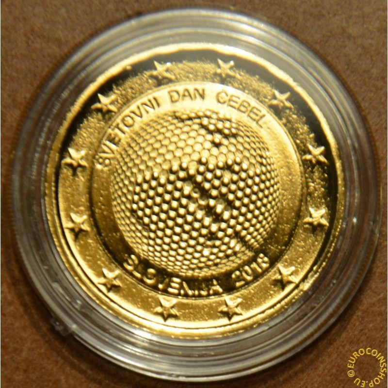 2 Euro Slovenia 2018 - World Day of Bees (gilded UNC)