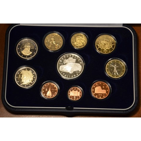 Set of 10 Euro coins Italy 2010 (Proof)