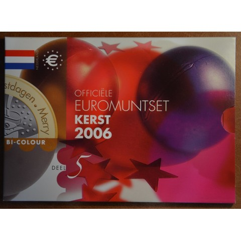 Set of 8 coins Netherlands 2006 Christmas (BU)