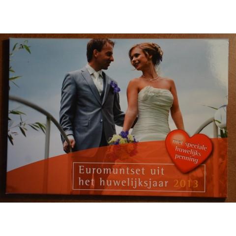 Sada 8 mincí Holandsko 2013 Svadobná sada (BU)