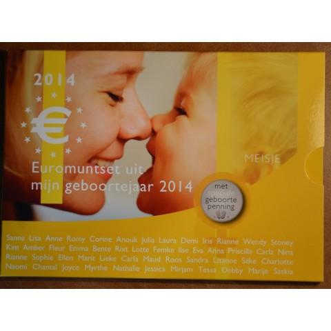 Set of 8 coins Netherlands 2014 Baby set - Girl (UNC)