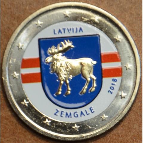 2 Euro Latvia 2018 - Zemgale II. (colored UNC)