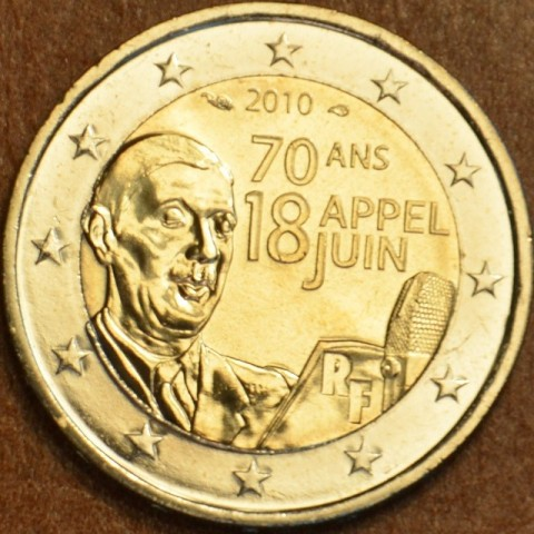 2 Euro France 2010 - 70th Anniversary of the Appeal of June 18 by General de Gaulle (UNC)