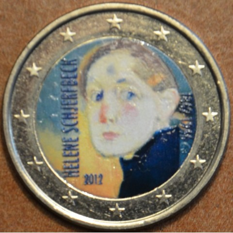 2 Euro Finland 2012 - 150th Anniversary of the Birth of Helene Schjerfbeck II. (colored UNC)
