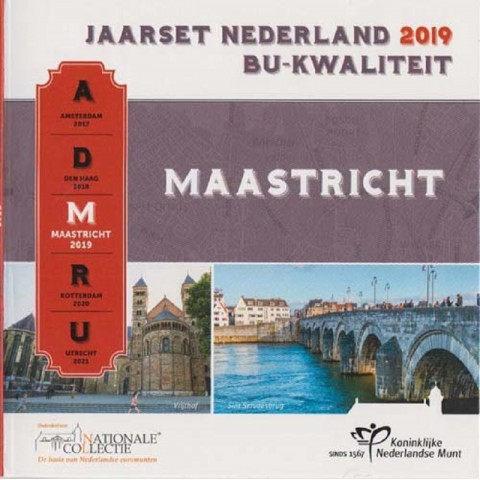 Official set of 8 coins of the Netherlands 2019 - Maastricht  (BU)