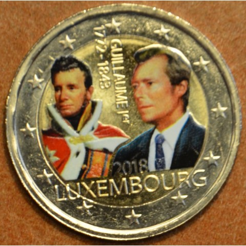 2 Euro Luxembourg 2018 - The 175th anniversary of the death of the Grand Duke Guillaume I. (colored UNC)