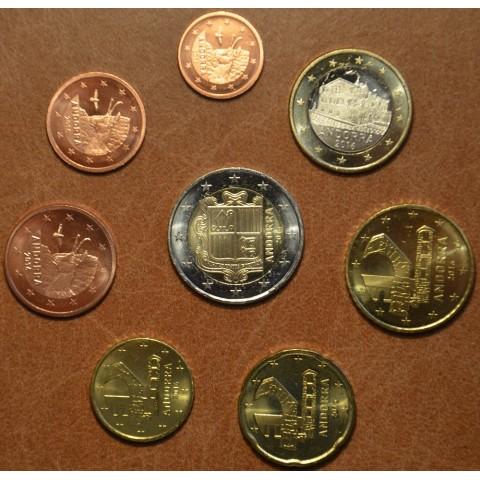 Set of 8 Euro coins Andorra 2016 (UNC)