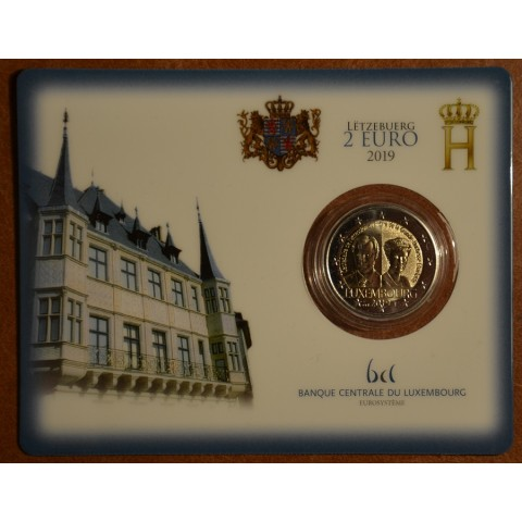 "2 Euro Luxembourg 2019 - 100 years of the arrival on the throne and marriage of G. D. Charlotte (BU with ""bridge"" mintmark)"