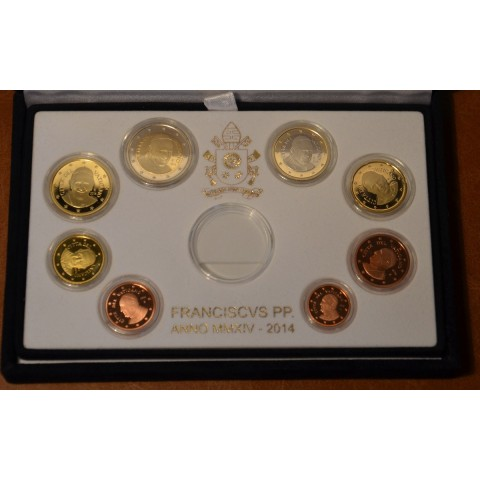 Set of 8 eurocoins Vatican 2014  (Proof)