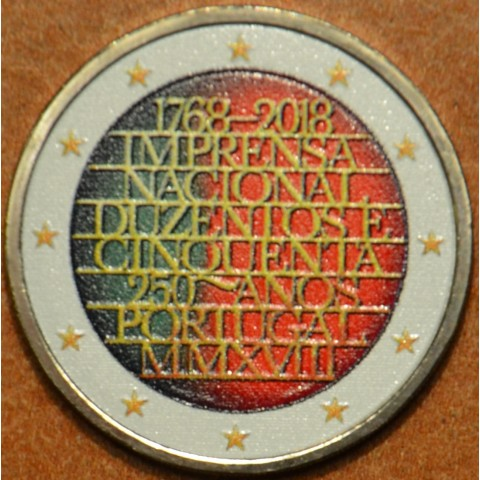 2 Euro Portugal 2018 - 250 years of mint INCM III. (colored UNC)