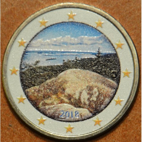 2 Euro Finland 2018 - National park Koli III. (colored UNC)