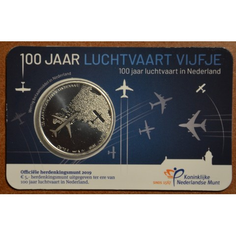 5 Euro Netherlands 2019 - 100 years of air force (UNC)