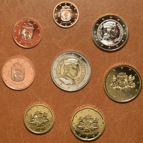 Set of 8 coins Latvia 2019 (UNC)