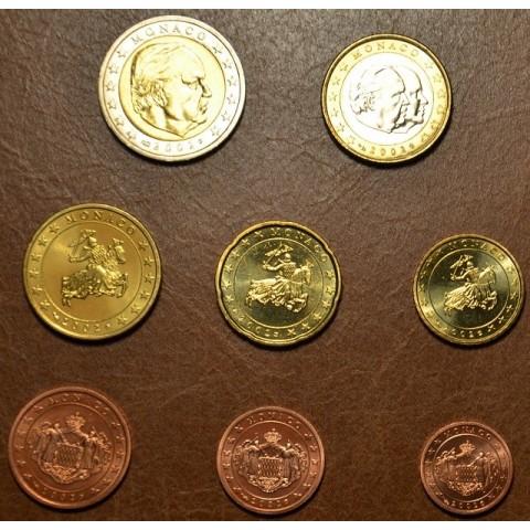 Set of 8 eurocoins Monaco 2002 (UNC)