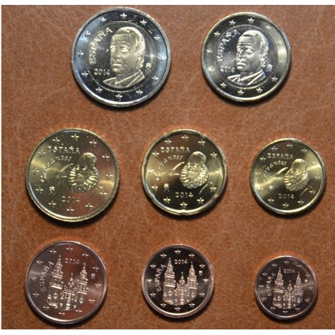 Set of 8 coins Spain 2014 (UNC)