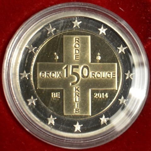 2 Euro Belgium 2014 - 150th Anniversary of the Belgian Red Cross (Proof)