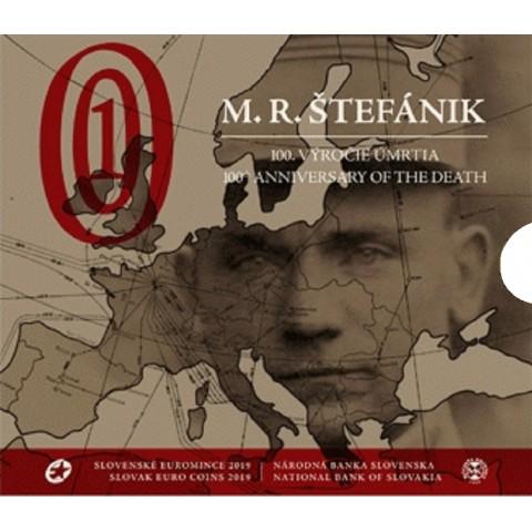 Set of 9 Slovak coins 2019 Milan Rastislav Štefánik (BU)