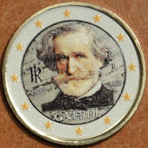 2 Euro Italy 2013 - 200th Anniversary of the Birth of Giuseppe Verdi V. (colored UNC)