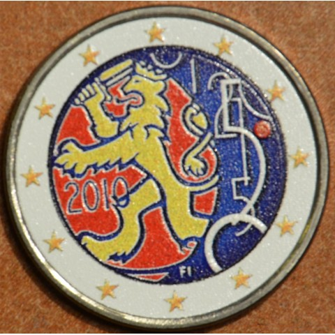 2 Euro Finland 2010 - 150th anniversary of Finnish currency III. (colored UNC)