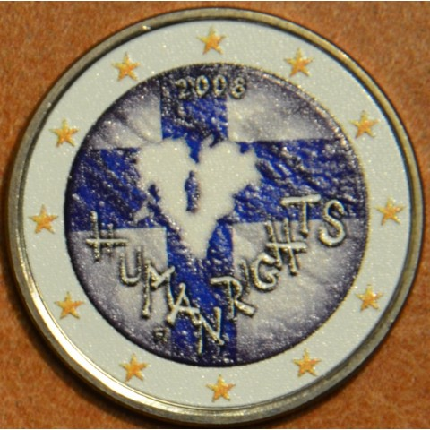 2 Euro Finland 2008 - 60th anniversary of the Universal Declaration of Human Rights IV. (colored UNC)