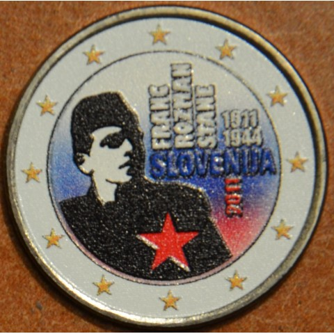 2 Euro Slovenia 2011 - 100th anniversary of the birth of Franc Rozman V. (colored UNC)