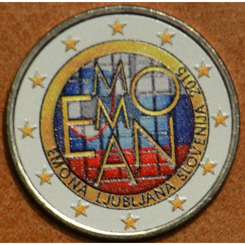 2 Euro Slovenia 2015 - 2000 years of Emona V.  (colored UNC)