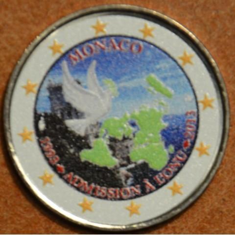 2 Euro Monaco 2013 - 20th Anniversary of UN Membership V. (colored UNC)