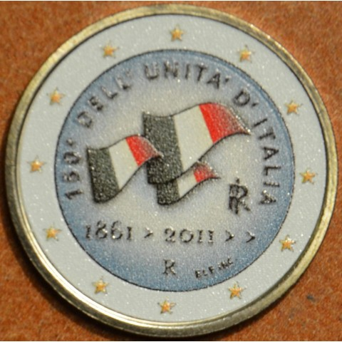 2 Euro Italy 2011 - 150th anniversary of unification of Italy IV.  (colored UNC)