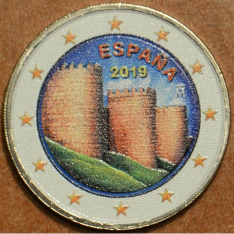 2 Euro Spain 2019 - UNESCO: Ávila (colored UNC)