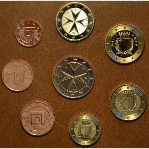 Set of 8 eurocoins Malta 2019 (UNC)