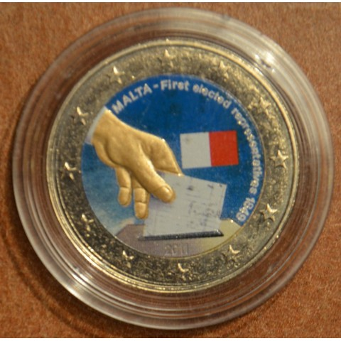 2 Euro Malta 2011 - Constitutional history – first election of representatives in 1849 IV. (colored UNC)
