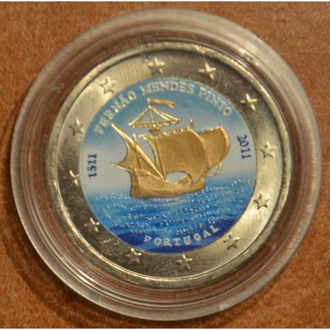 2 Euro Portugal 2011 - 500th annivesary of the birth of Fernão Mendes Pinto IV. (colored UNC)