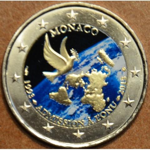 2 Euro Monaco 2013 - 20th Anniversary of UN Membership III. (colored UNC)